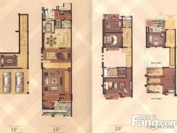 青枫公园景瑞英郡4室2厅3卫别墅出租,可办公可住适合工作室会所