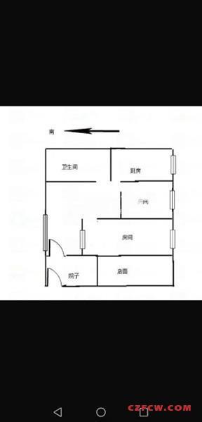 花园新村简装2房/2厅/1卫朝南好房100万
